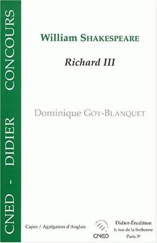 9782864603696: William Shakespeare Richard III
