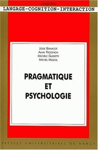 9782864808763: Pragmatique et psychologie. Avec CD-ROM