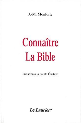9782864952015: connaitre la bible