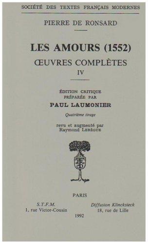 9782865030101: les amours (1552)