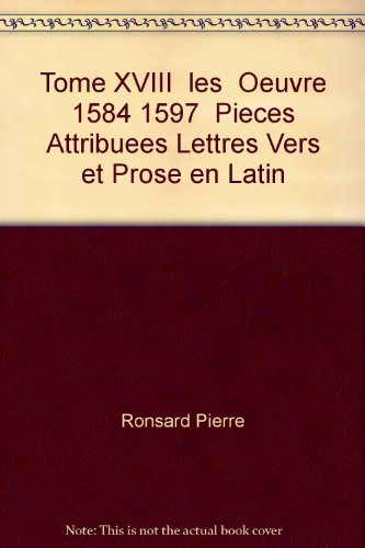 9782865030293: oeuvres completes t.18 2eme partie pieces attribuees