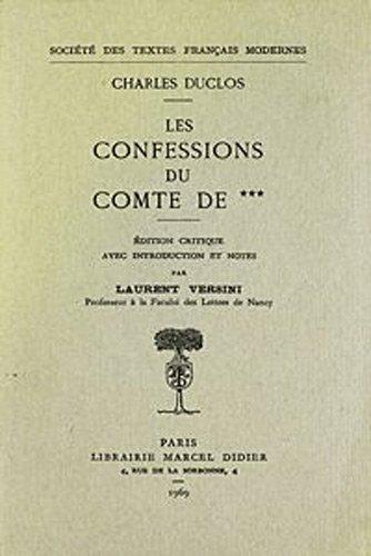 9782865031627: confessions du comte de ***