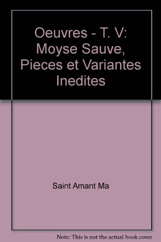 oeuvres t.5 ; moyse sauve