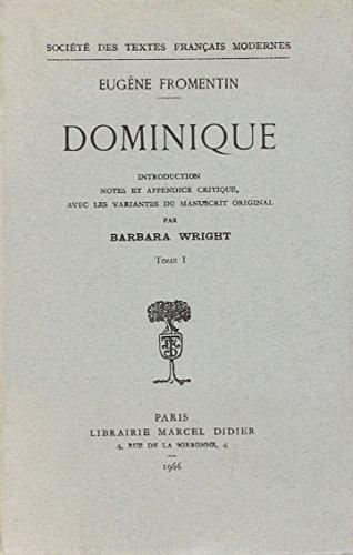 Dominique (French Edition): Fromentin (Eugène)