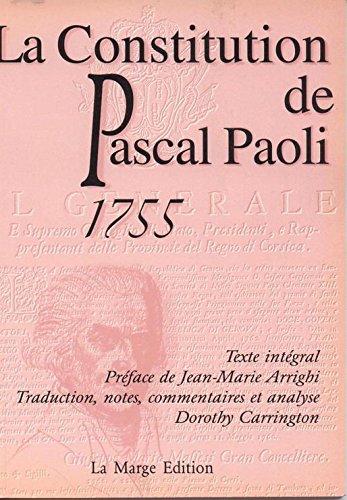 9782865231188: La constitution de Pascal Paoli
