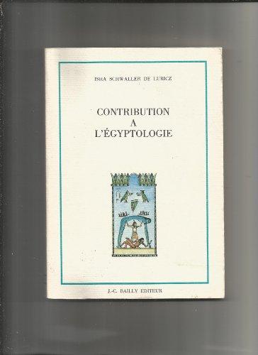 9782865540174: Contribution à l'égyptologie