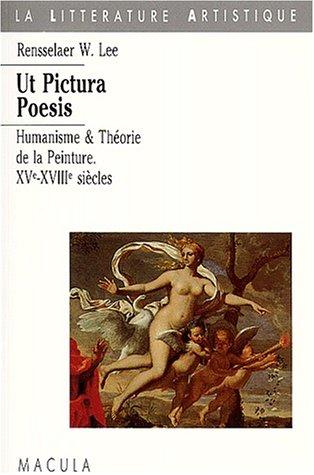 9782865890323: Ut pictura poesis. : Humanisme et théorie de la peinture : XVe-XVIIIe siècles