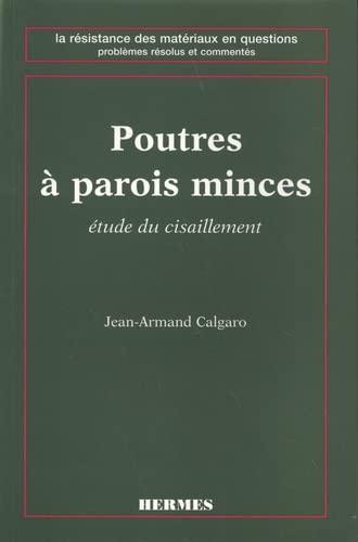 9782866016708: Poutres à parois minces. Etudes de cisaillement