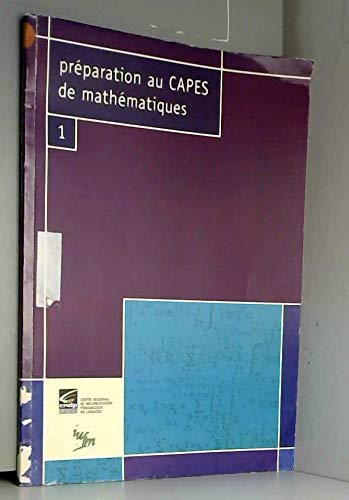 9782866240134: Pr�paration au Capes de math�matiques, num�ro 1