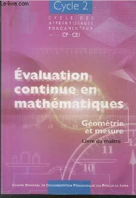 9782866283094: Evaluation continue en maths CP CE1 cycle 2 2 vols