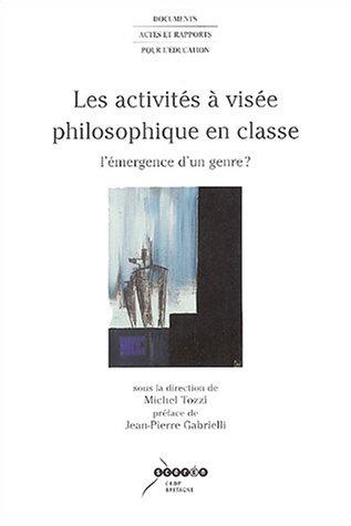 9782866343750: Les activités à visée philosophique en classe : L'émergence d'un genre ?