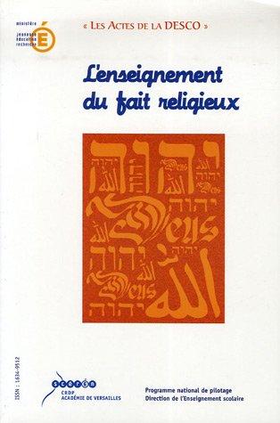 9782866373887: L'enseignement du fait religieux