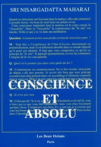 9782866810696: Conscience et absolu : L'enseignement final de SRi Nisargadatta Maharaj