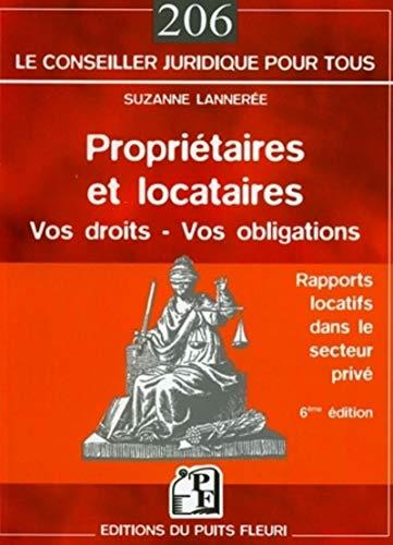 9782867392917: Propriétaires et locataires : Droits et obligations dans le secteur privé libre