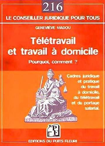 Télétravail et travail à domicile (French Edition): Geneviè...
