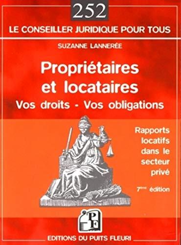 9782867393853: Propriétaires et locataires : Droits et obligations dans le secteur privé libre