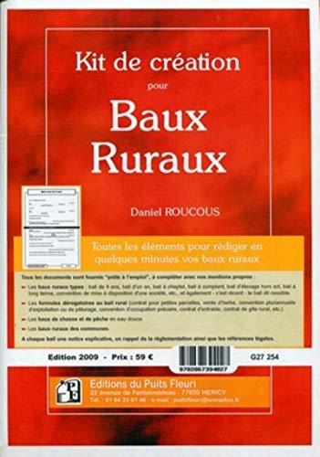 Kit de création pour baux ruraux (1Cédérom) (French Edition)...