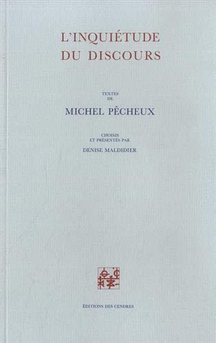 9782867420269: L'inquiétude du discours (Archives du commentaire) (French Edition)