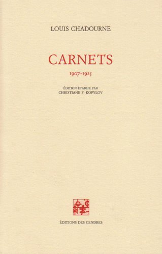 9782867420627: Carnets, 1907-1925 (French Edition)