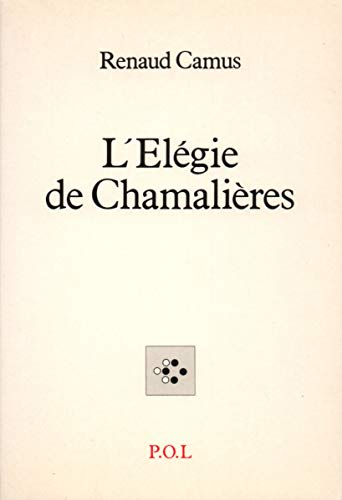 9782867442148: L'�l�gie de Chamali�res (Fiction)