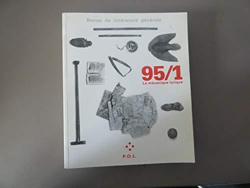 9782867444739: La m�canique lyrique 95/1