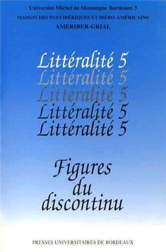 Figures du discontinu: Collectif