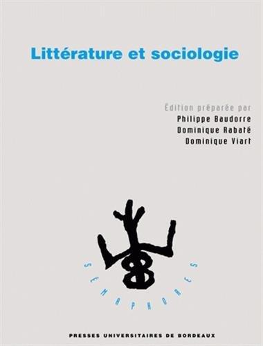 9782867814563: Littérature et sociologie