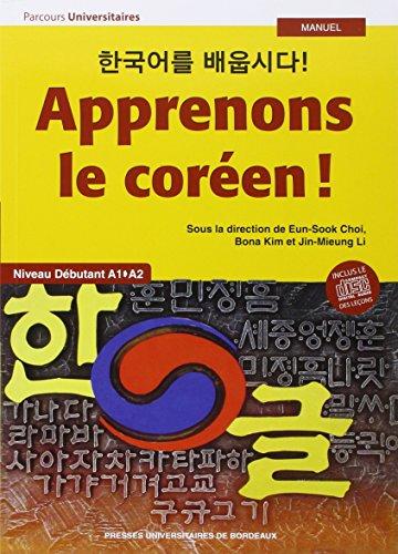 9782867818868: Apprenons le coreen tome 1 vol 1 niveau debutant
