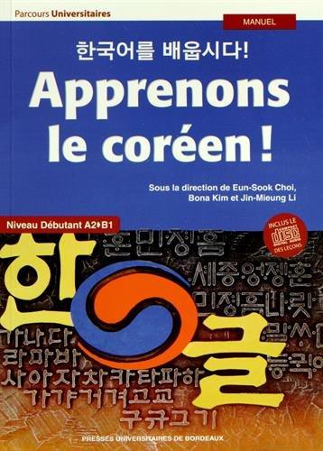 9782867818882: Apprenons le coréen ! Niveau débutant A2-B1 (1CD audio)
