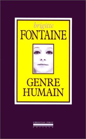 9782868081124: Genre Humain: L'Essentiel des Textes de Chansons (French Edition)