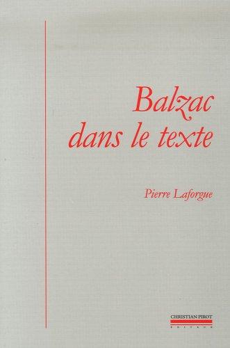9782868082435: Balzac dans le texte : Etudes de génétique et de sociocritique