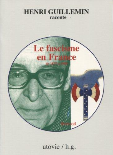 9782868197320: Le fascisme en France de 1875 � 1980 (1CD audio)