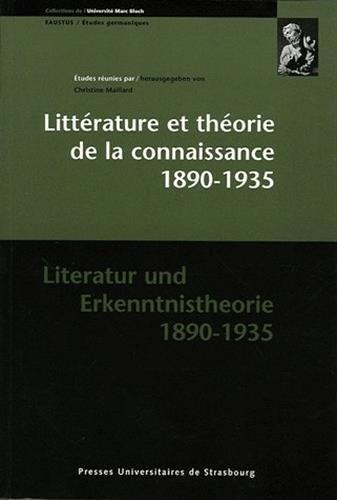 9782868202628: Littérature et théorie de la connaissance 1890-1935 (French Edition)