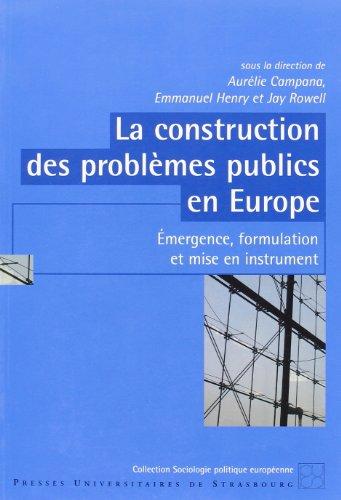 9782868203045: La construction des problèmes publics en Europe (French Edition)