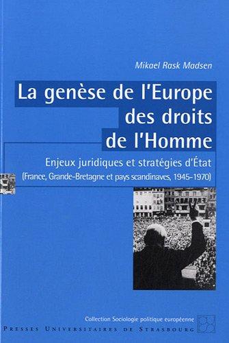9782868204547: La genèse de l'Europe des droits de l'Homme (French Edition)
