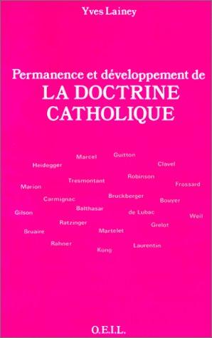 9782868391650: Permanence et developpement de la doctrine catholique (Théologie)