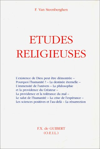 Etudes religieuses (French Edition): Steenberghen, Fernand