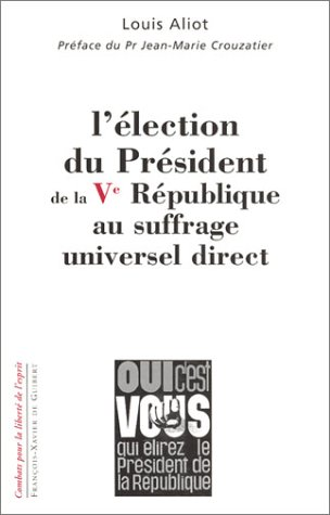 9782868398376: election du president de la republique au suffrage universel