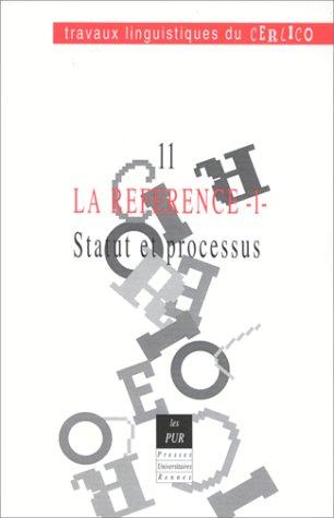 9782868473233: La Reference 1 Cerlico 11 Statut et Processus