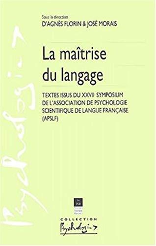 Maitrise du langage: Florin Agnes