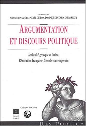 ARGUMENTATION ET DISCOURS POLITIQUE: COLLECTIF