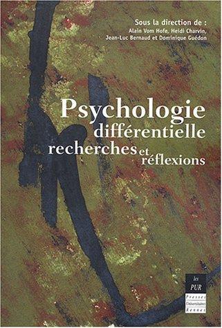 9782868478672: Psychologie différentielle : recherches et réflexions