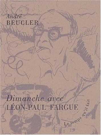 9782868532657: Dimanche avec Léon-Paul Fargue
