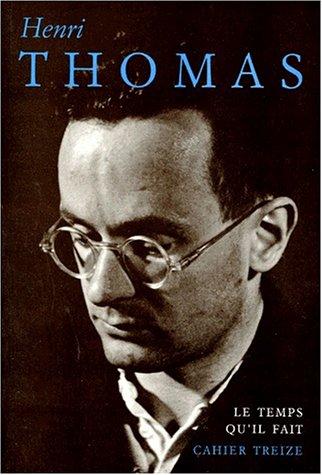 Henri Thomas (Cahier) (French Edition): Paul Martin