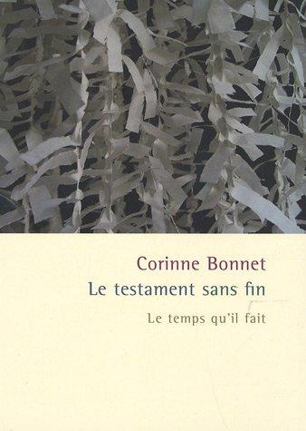 TESTAMENT SANS FIN (LE): BONNET CORINNE