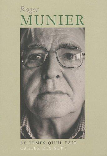 cahier Roger Munier: ROGER MUNIER