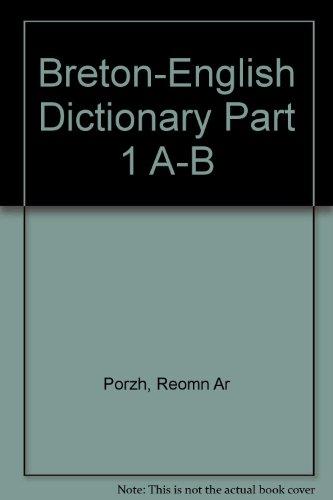 9782868630131: Breton-English Dictionary Part 1 a-B