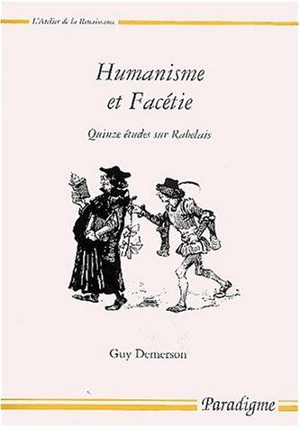 9782868781239: Humanisme et facétie : quinze études sur Rabelais