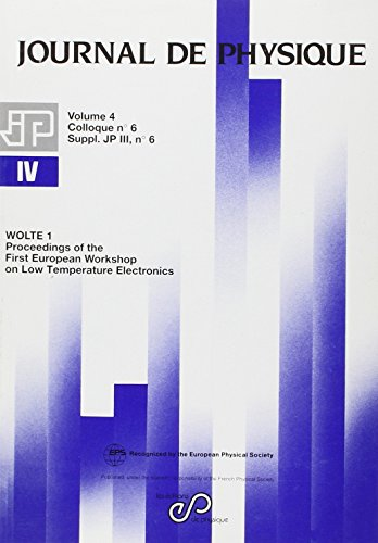 Wolte 1 1st Proceedings of the First European Workshop (French Edition): Ghibaudo