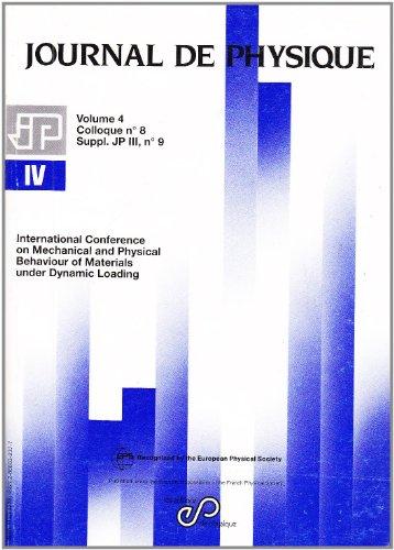 EURO-DYMAT 94. International Conference on Mechanical and: Harding, J. (Ed.)